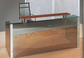 Glass Reception Desk Office U0026 Workspace Metal And Glass Reception Desk Ideas For