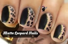 matte leopard nail art the crafty ninja