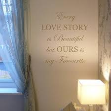 every love story is beautiful wall sticker by nutmeg every love story is beautiful wall sticker