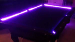 purple felt pool table led pool table kit youtube