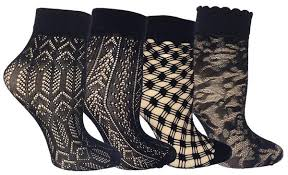 fishnet ankle socks in bulk patterned womens summer fashion