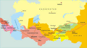 Kyrgyzstan Map The Great Silk Road Map Manzara Tourism Various Tours In