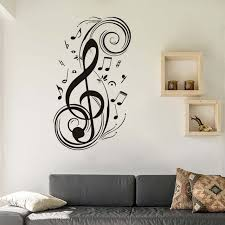 music note home decor diy musical note home decor music wall stickers for kids room