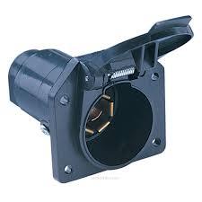 hopkins 48485 7 pole round rv blade plastic connector socket mfg