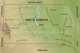 map south dakota physical map of south dakota