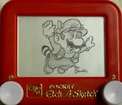raccoon mario etch a sketch this is an ultimate homage to u2026 flickr