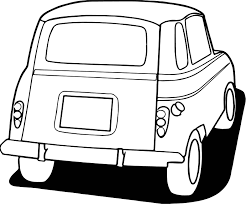 vintage antique car back side coloring page wecoloringpage