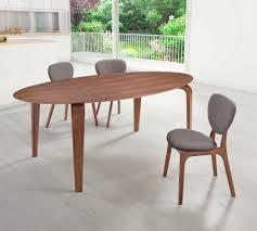 oval walnut dining table z099 modern dining