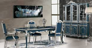 Modern Dining Table 2014 High End Dining Tables With Contemporary Silver And Blue Color For