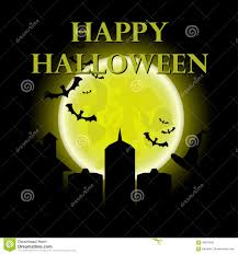 halloween night background happy halloween message design background illustration halloween