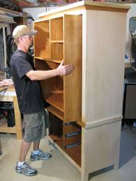 Computer Armoire With Pocket Doors Computer Armoire Popular Woodworking Magazine