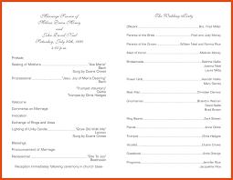 Free Sample Wedding Programs Templates Wedding Programs Template Moa Format