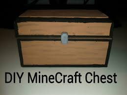 diy minecraft chest youtube