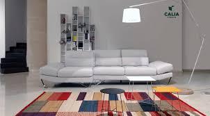 calia italia canapé en cuir canapé modulable contemporain en cuir 3 places evan
