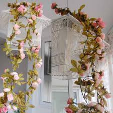 hanging garland artificial flowers for wedding home decoration