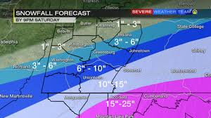 Snowfall Totals Map Winter Storm Warning Issued Ahead Of Weekend Snow Wpxi