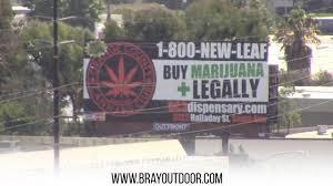 bray outdoor ads 55 freeway marijuana dispensary billboard video youtube