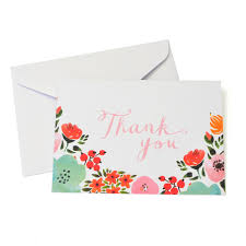 thank you cards shop for the multicolored floral thank you cards envelopes by