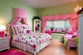 cute teen girls room ideas with green wall paint color home