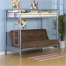 budget wise loft bunk beds with couch sofa futons underneath