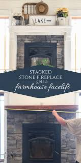 stacked stone fireplace gets a farmhouse facelift twelve on main