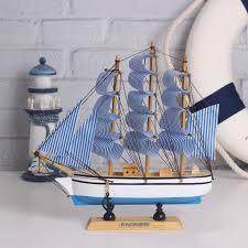 Sailboat Home Decor Miniature Wooden Ship Promotion Shop For Promotional Miniature
