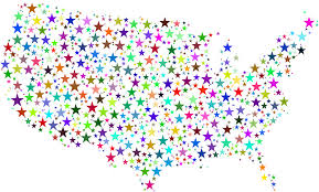 Uniteds States Map by Clipart United States Map Prismatic Stars