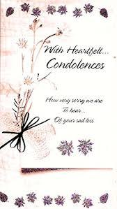 condolences card with heartfelt condolences sympathy card co uk kitchen home