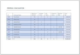 Excel Payroll Calculator Template Salary Calculator Template Template