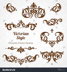vector set vintage ornaments victorian style stock vector