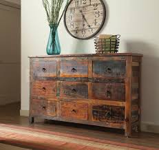 Reclaimed Wood Buffet Table by China Buffets And Cabinets Reclaimed Wood 9 Drawer Accent