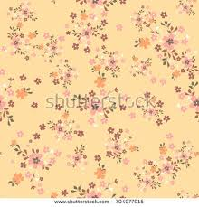 vintage floral wrapping paper simple pattern smallscale flowers shabby stock vector