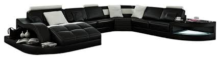 rj large leather sectional contemporary sectional sofas by