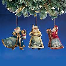 kinkade world santas ornament set