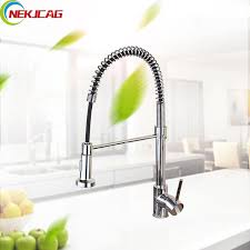 Kitchen Faucet Outlet Deck Mounted Kitchen 360 Ratation Faucet Pull Out Sprayer