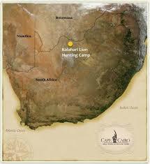 africa map kalahari hunt in africa