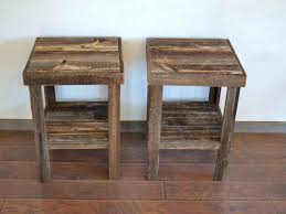 rustic wood end table mountain man series aspen end table with