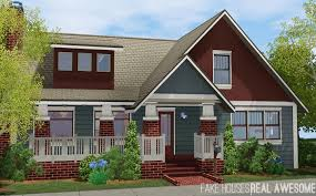 Craftsman Houses Mod The Sims The Rhodes 3 Bd 2 Ba Craftsman