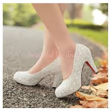 wedding shoes chunky heel items similar to 2014 high heel shoes white lace chunky