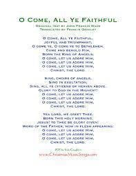 printable lyrics o come all ye faithful lyrics