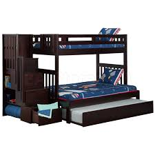 Twin Over Twin Bunk Beds With Trundle by Sale 1339 80 Cascade Staircase Twin Over Full Bunk Bed Trundle