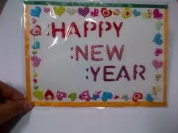 greeting card happy new year 2014 handmade greeting card hearts