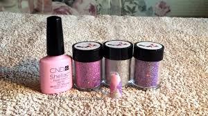 cnd shellac u0026 lecente glitter jumper nail art tutorial youtube