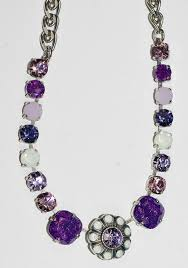 necklace stone setting images Mariana necklace purple rain white purple pink stones in silver JPG