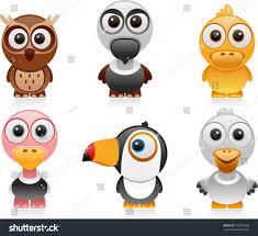 vector birds cartoon set 2 stock vector 102032248 shutterstock