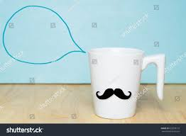 Coffee Cup Meme - white coffee cup mustache on wooden stock photo 655278172