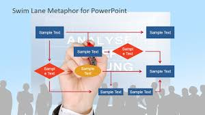 work process flow chart metaphor for powerpoint slidemodel