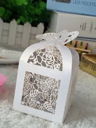 favor boxes for weddings 100pcs wedding party favor boxes butterfly diy candy cookie gift