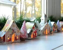 mini lights for christmas village 203 best putz and glitter houses images on pinterest putz houses