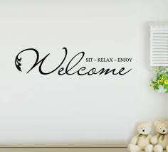 wall decals mesmerizing welcome quotes large image for fun coloring welcome wall decals quotes sticker